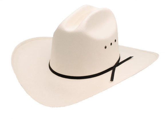 Low Crown Straw Cattleman Cowboy Hat - Natural White or Pink