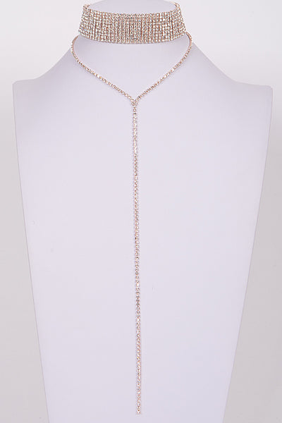 Two Piece Sparkle Choker