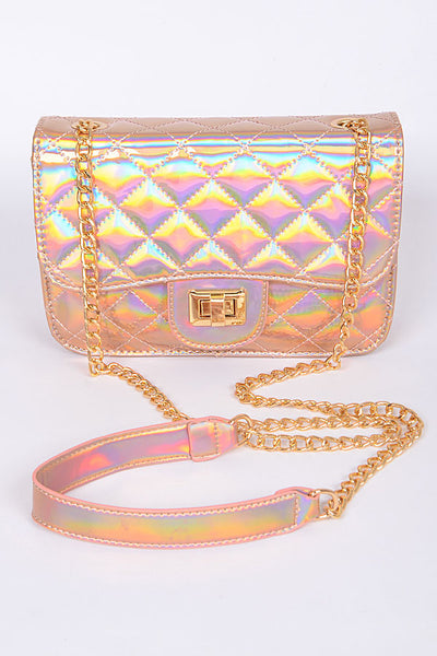Iridescent Diamond Stitch Bag