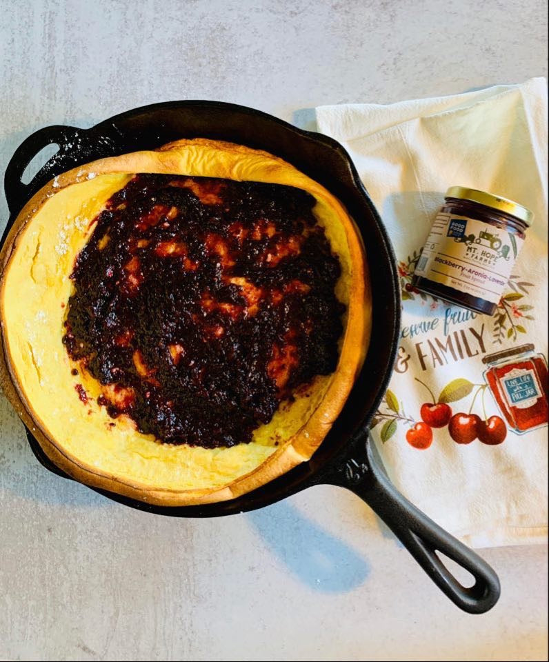 Dutch Baby Pancakes, Brunch, Entertaining Brunch, Cast Iron Recipes, Farm Style Recipes, Clean Brunch Recipes, Aronia Berries, Superberries