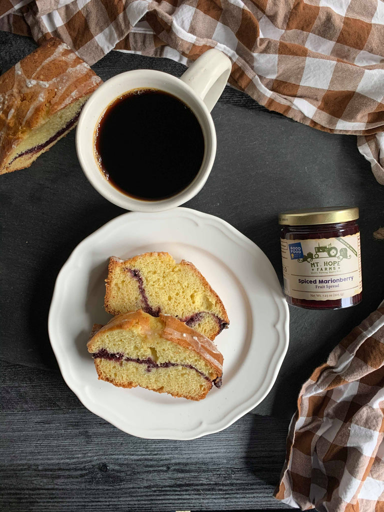 Spiced Marionberry Quick Bread