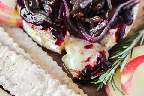 Sweet and Savory Baked Brie, Marionberry, Blackberry, Lavender, Brie