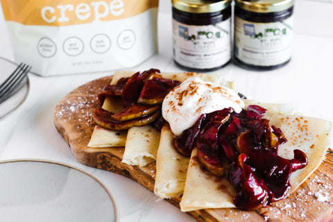 Fall Spiced Marionberry Gluten Free Crepe Recipe