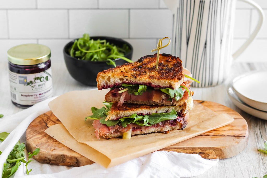Fancy Brie Grilled Cheese. Oregon berries. Marionberry. Raspberry. Easy Lunch Recipe. Grilled Cheese Sandwich recipe.