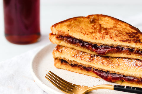Peanut Butter and Strawberry French Toast Recipe