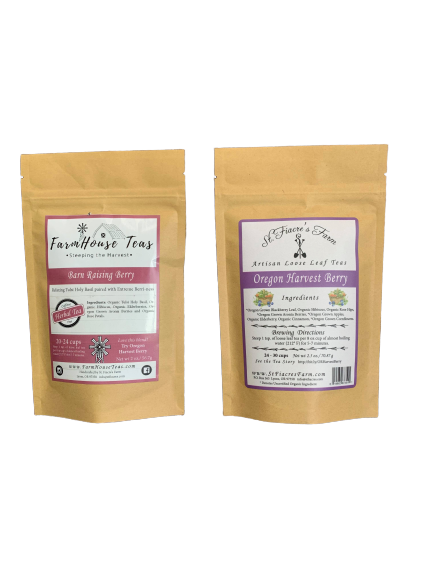 Oregon Aronia Berry Products, Superberry, Elderberry, Farmhouse Teas, Hand Blended Teas, Aronia, Antioxidants