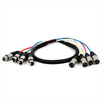 Monoprice 4-Channel XLR Male to XLR Female Snake Cable