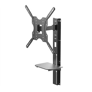 Full Motion Wall Mount Bracket with height adjustment Support Shelf for Medium 81cm~139cm TVs up to 66 lbs