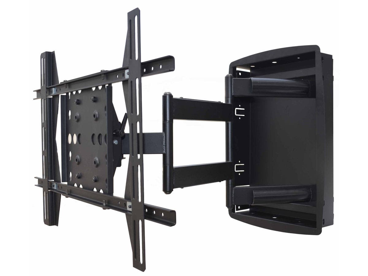 Recessed Full-Motion Articulating TV Wall Mount Bracket For TVs 42in to 63in | Max Weight 200lbs, VESA Patterns Up to 800x500 by Monoprice