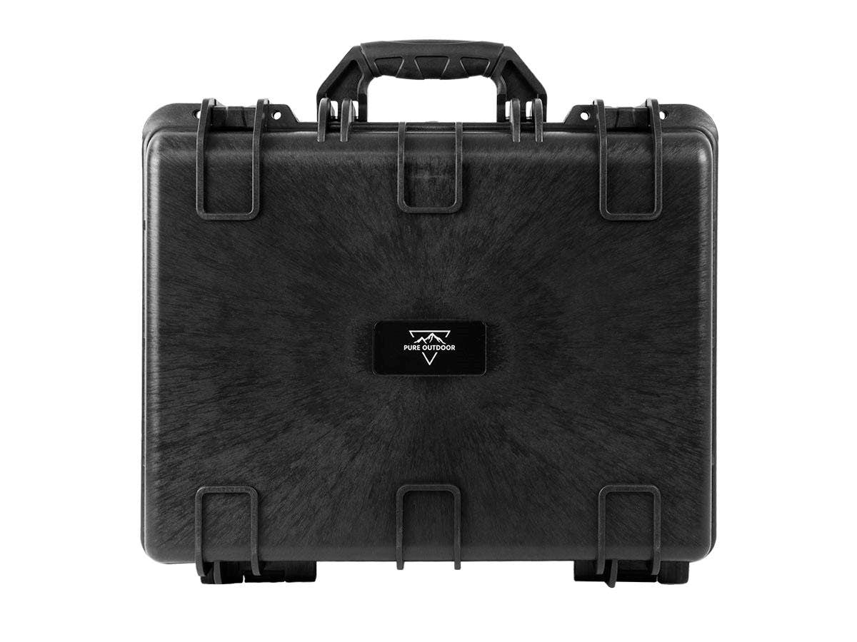 "Weatherproof Hard Case with Customizable Foam, 48 x 40 x 20 cm (19"" x 16"" x 8"") by Monoprice"