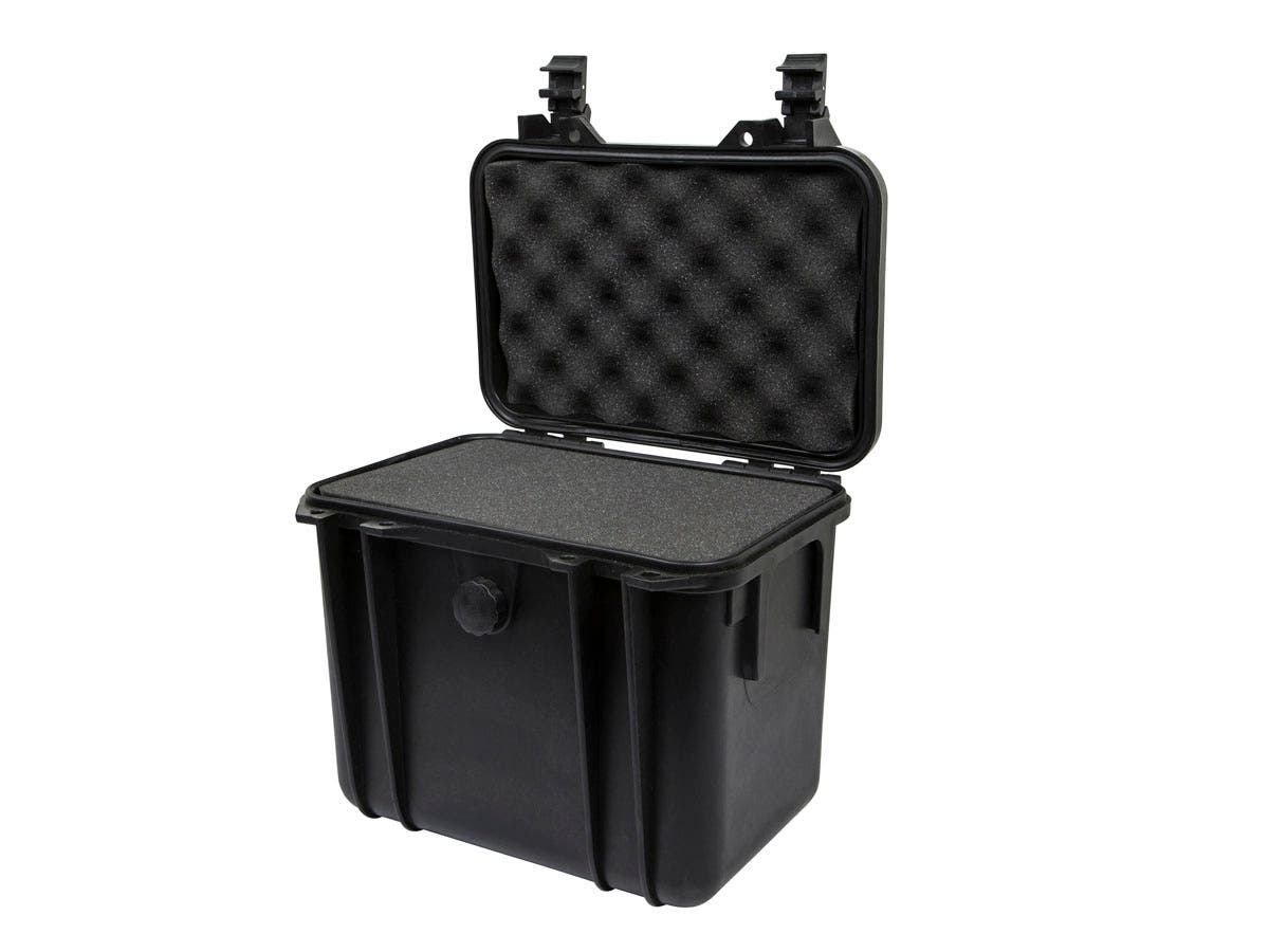 "Weatherproof Hard Case with Customizable Foam, 11"" x 8"" x 10"" by Monoprice"