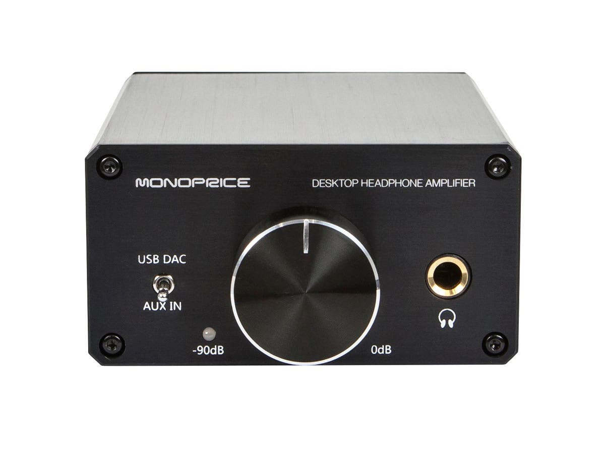 EU Desktop Headphone Amplifier by Monoprice