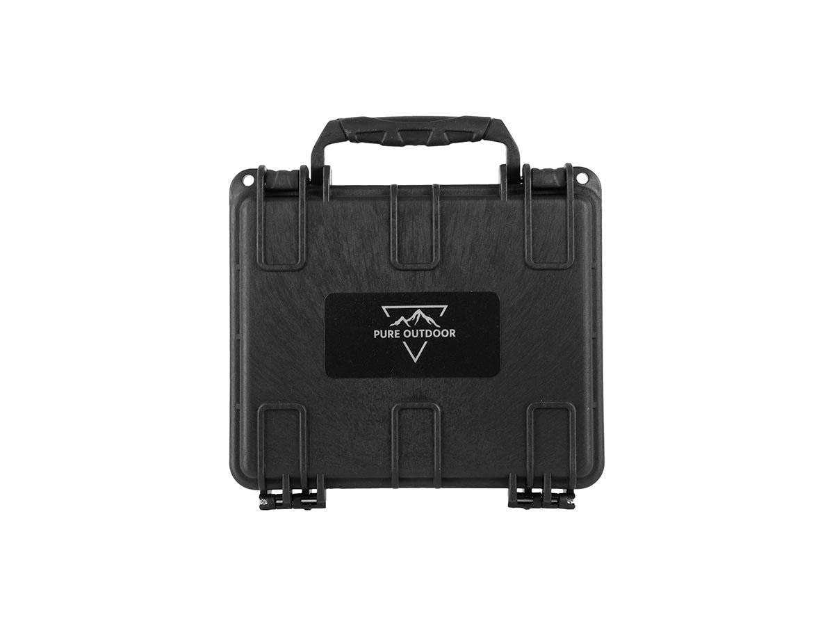Weatherproof Hard Case - 17.7 x 15.2 x 5 cm (7x6x2in) With Customizable Foam, Shockproof, Customizable Name Plate by Monoprice