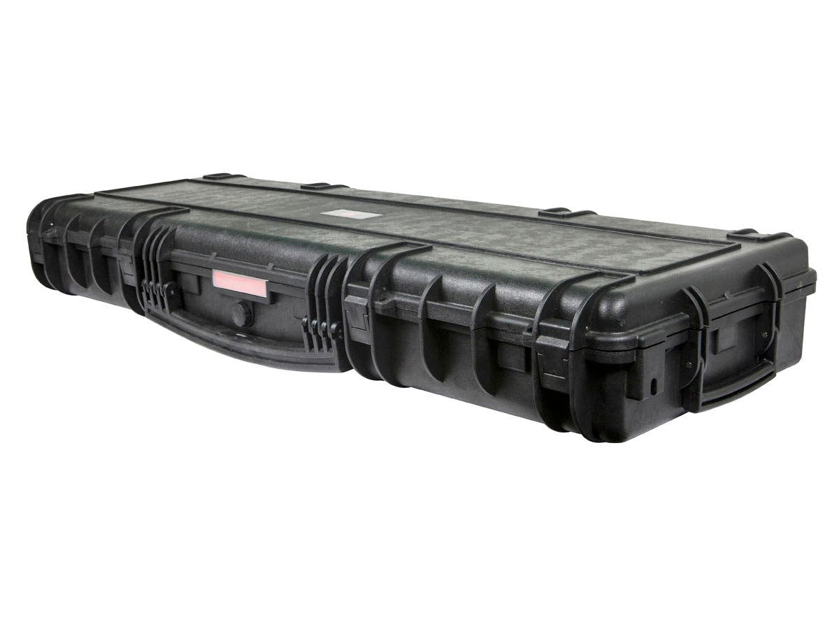 "Weatherproof Hard Case with Wheels and Customizable Foam, 119 x 40 x 15 cm (47"" x 16"" x 6"") by Monoprice"