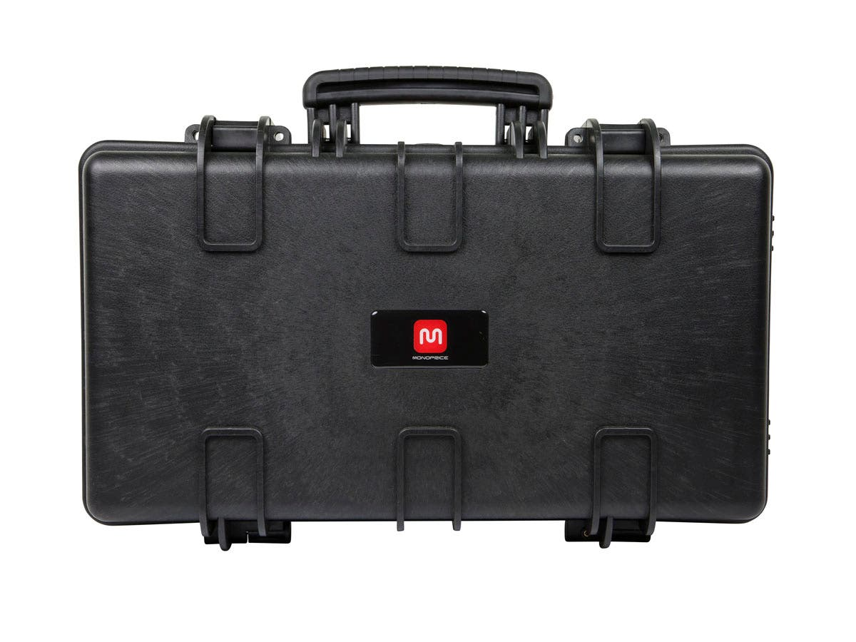 "Weatherproof Hard Case with Customizable Foam, 22"" x 14"" x 8"" by Monoprice"