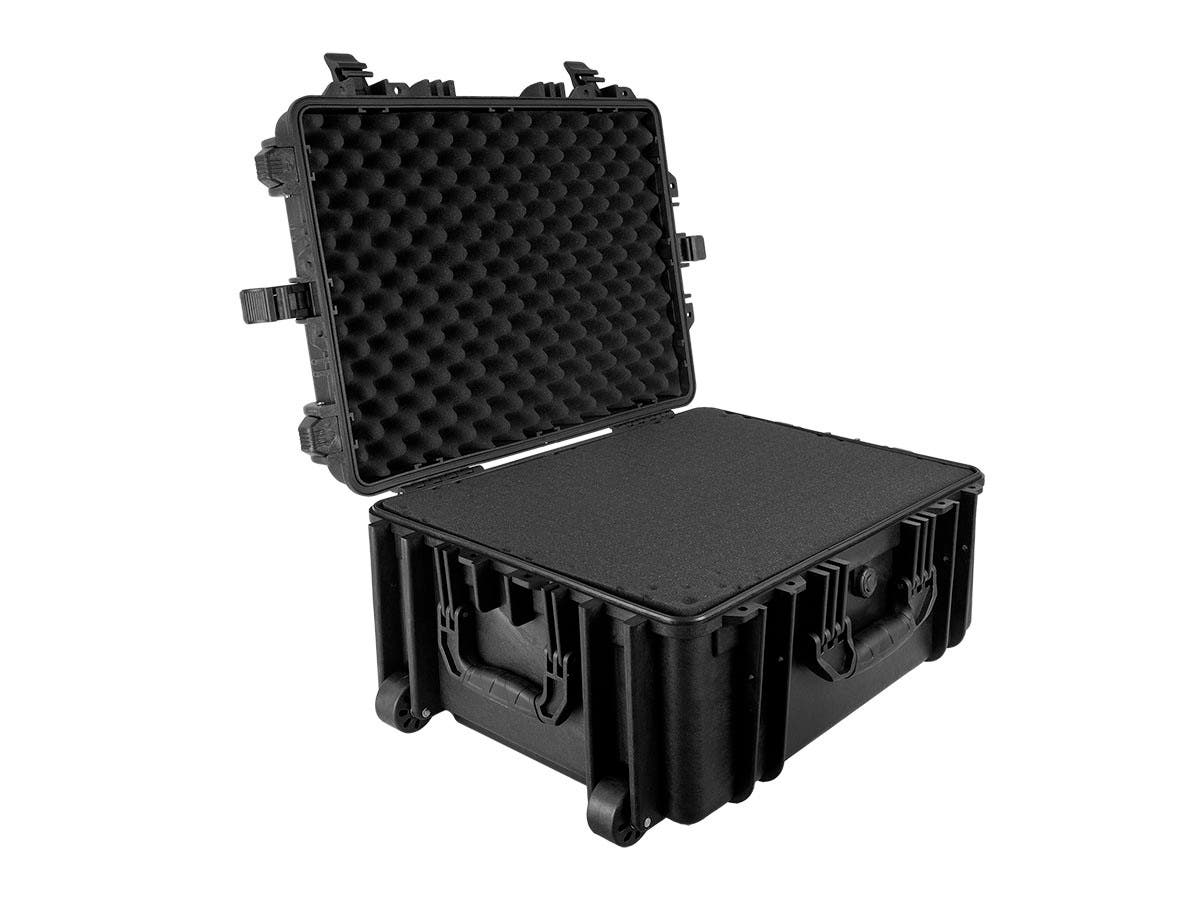 "Weatherproof Hard Case with Wheels and Customizable Foam, 25"" x 19"" x 11"" by Monoprice"