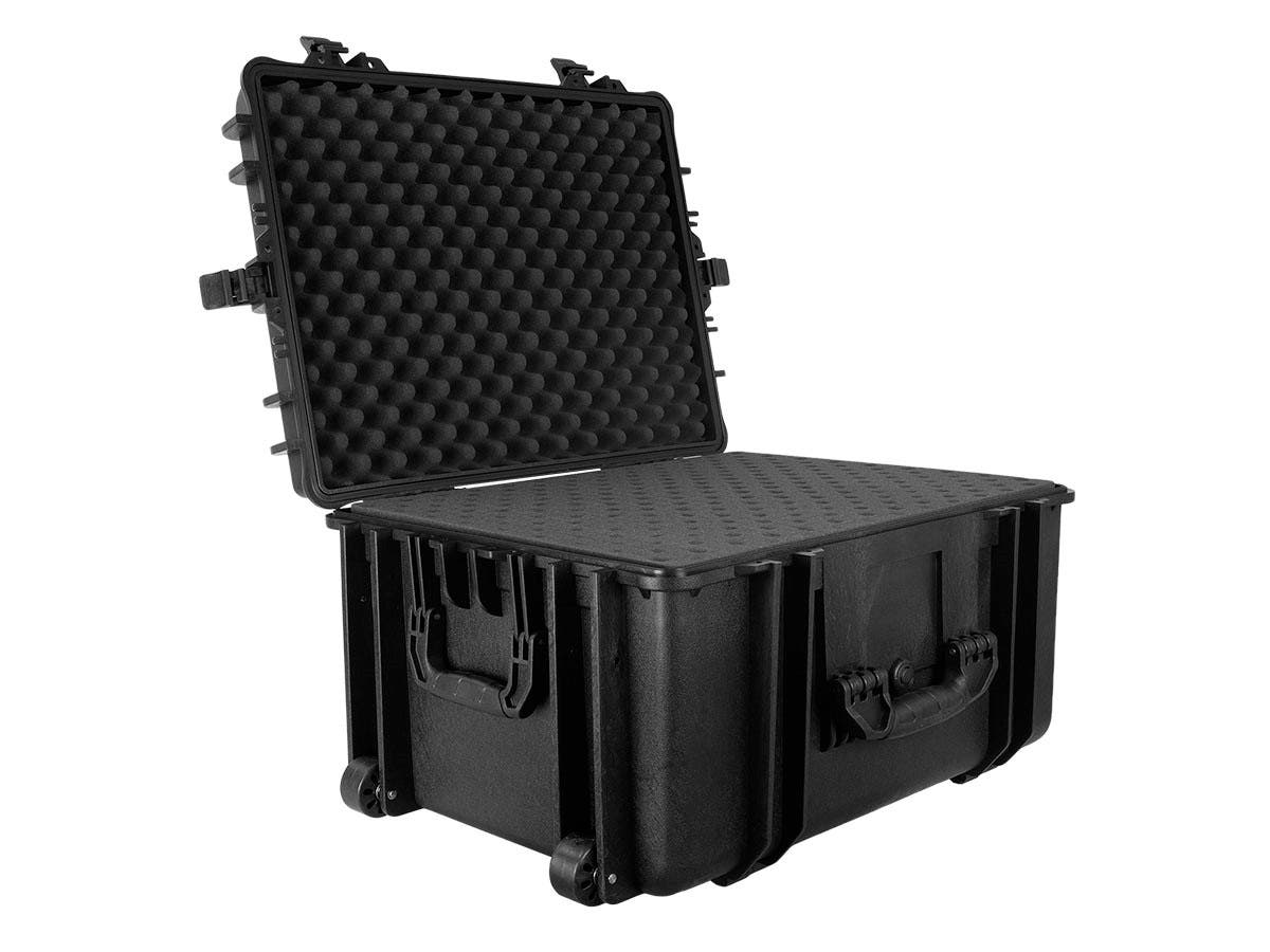 "Weatherproof Hard Case with Wheels and Customizable Foam, 66 x 50 x 35 cm (26"" x 20"" x 14"") by Monoprice"