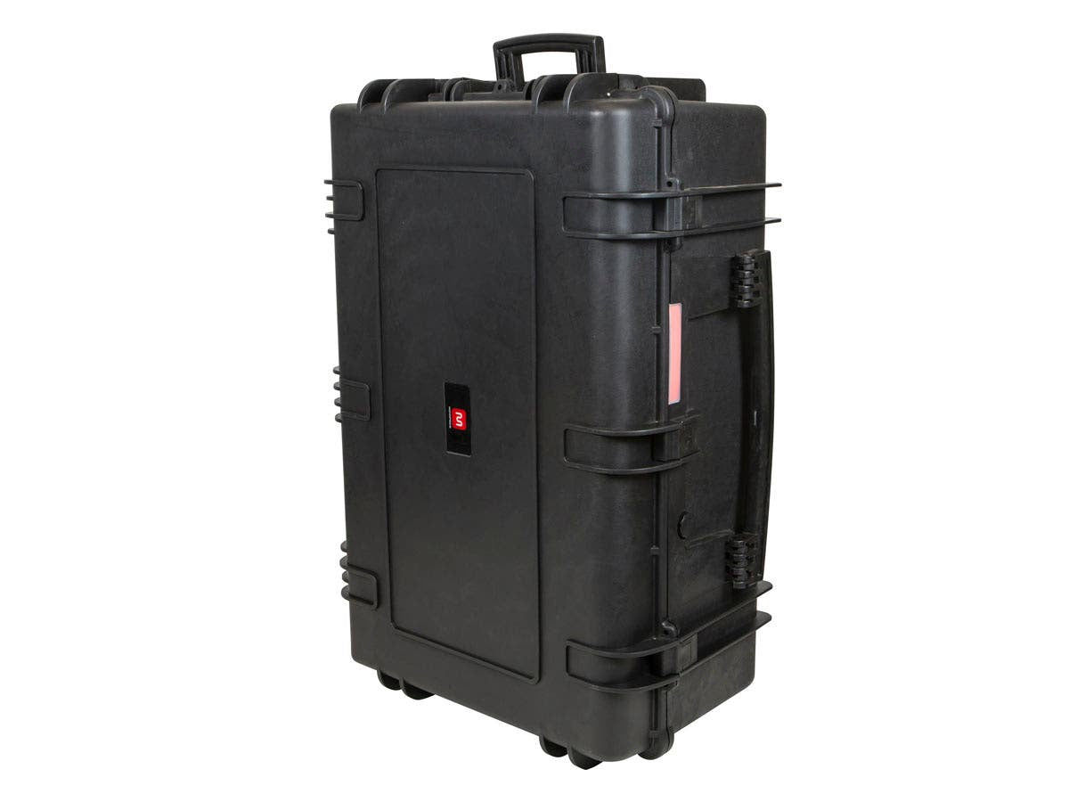 "Weatherproof Hard Case with Wheels and Customizable Foam, 33"" x 22"" x 13"" by Monoprice"