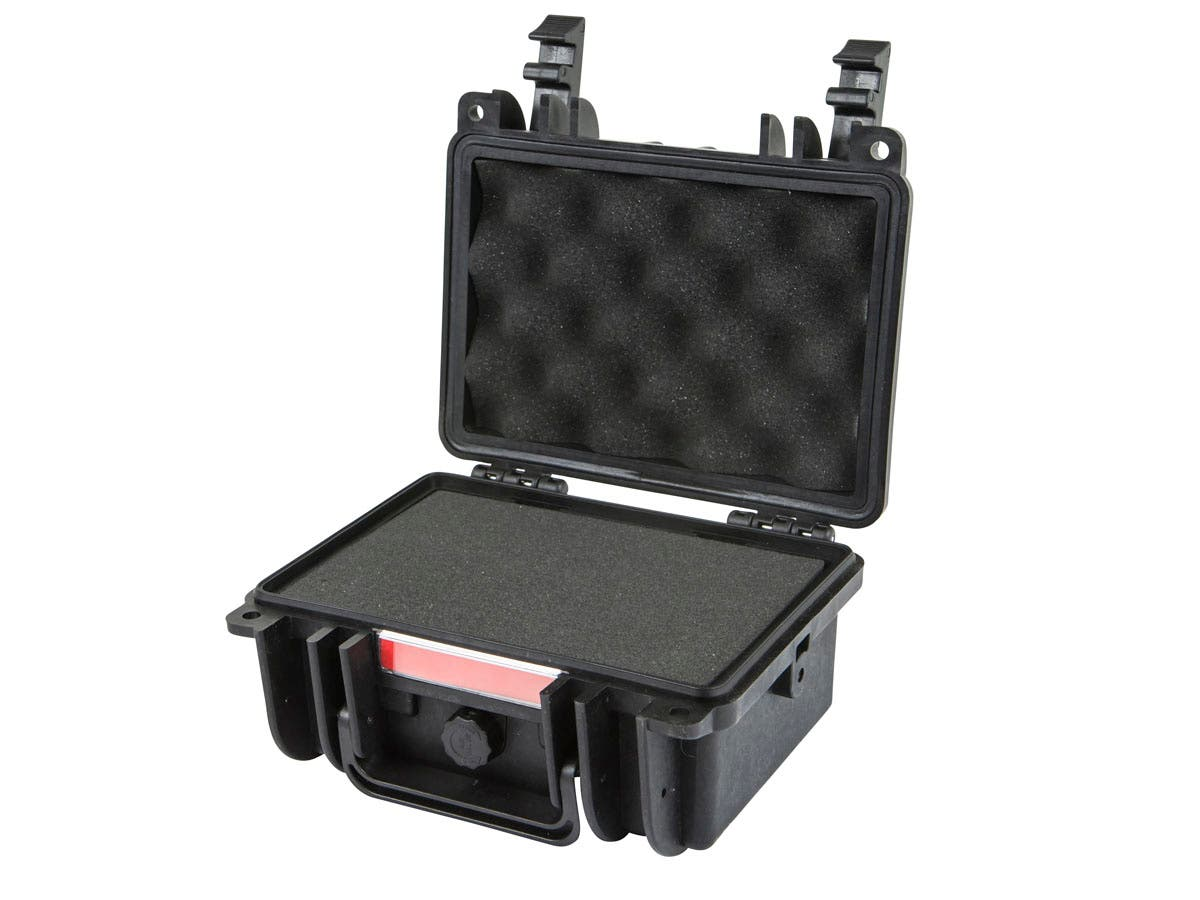 "Weatherproof Hard Case with Customizable Foam, 8"" x 7"" x 4"" by Monoprice"