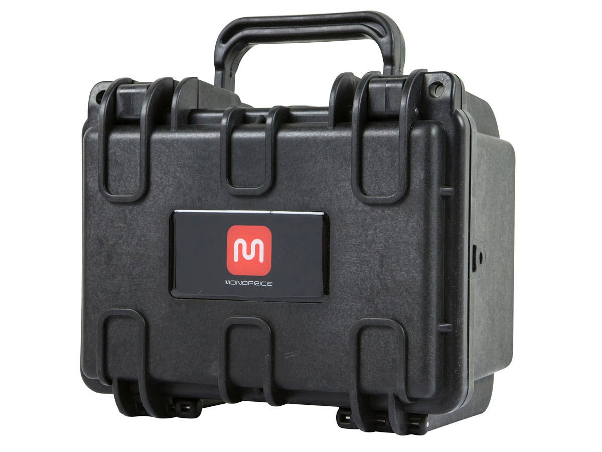 "Pure Outdoor by Monoprice Weatherproof Hard Case with Customizable Foam, 20 x 17 x 15 cm (8"" x 7"" x 6"")"