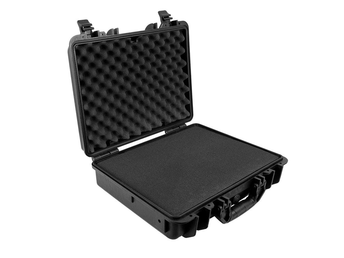 Weatherproof Hard Case - 35.5 x 40.6 x 20.3 cm (14x 16x8in) With Customizable Foam, Shockproof, Customizable Name Plate by Monoprice