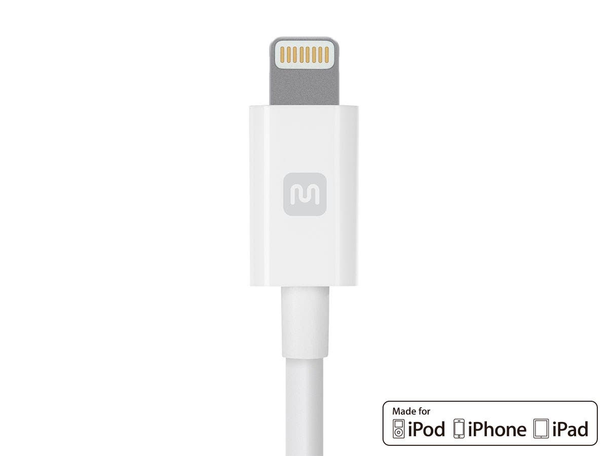 Monoprice Select Series Apple MFi Certified Lightning to USB Charge and Sync Cable, 3 m (10 ft) White
