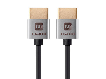 Ultra Slim Series High Speed HDMI Cable - 4K@60Hz, HDR, 18Gbps, 36AWG, YUV 4:4:4 by Monoprice