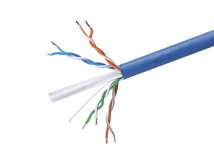 Monoprice Cat6 Ethernet Bulk Cable - Network Internet Cord - 152 Meters (500ft) - Blue, Stranded, 550Mhz, UTP, CM, Pure Bare Copper Wire, 24AWG Main Image