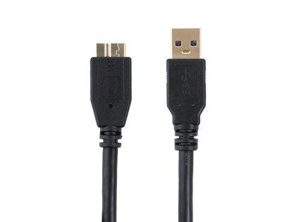 Select Series USB 3.0 A to Micro B Cable - 1.8 Meters (6 ft) - Compatible with Android, Hard drives, Samsung, HTC, WD and More by Monoprice
