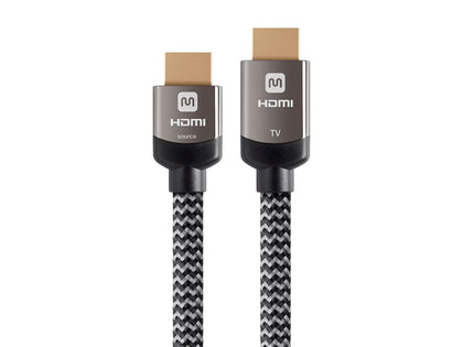 Luxe Series Active High Speed HDMI Cable - 4K@60Hz, 18Gbps, HDR, 28AWG, YCbCr 4:4:4, CL3, Gray by Monoprice