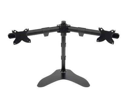 Monoprice Dual Monitor Free Standing Desk Mount, High-Grade Aluminum And Steel For Up to 76.2cm Displays