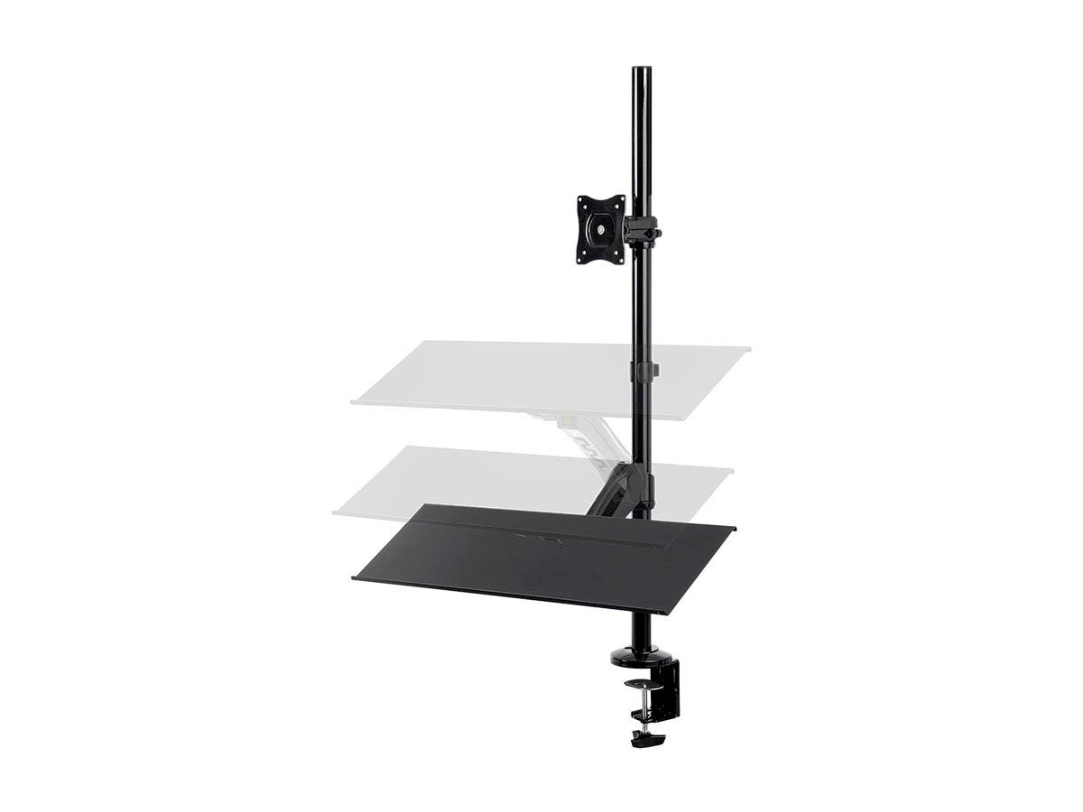 Monoprice Sit-Stand Monitor and Keyboard Workstation, Height-Adjustable, Supports Most 33cm-71cm (13in-28in) Displays