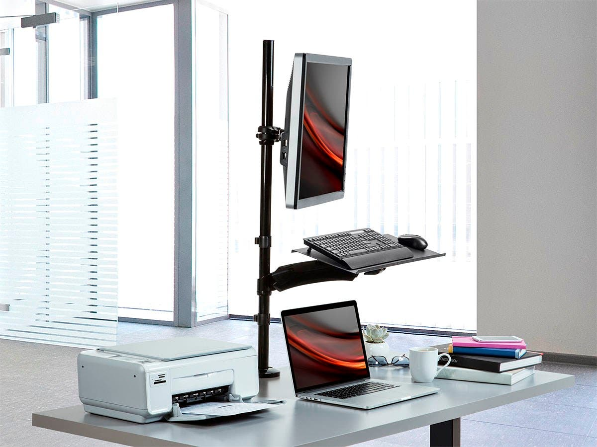 Monoprice Sit-Stand Monitor and Keyboard Workstation