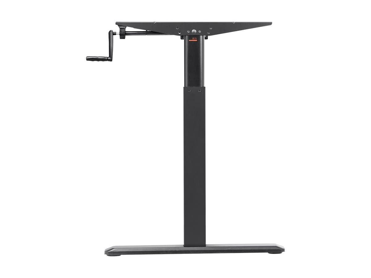 Height Adjustable Sit Stand Riser Table Desk Frame - Black With Manual Crank, Compatible With Desktops From 99cm Up To 160cm Wide - Workstream Collection by Monoprice