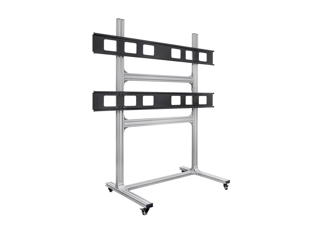 Monoprice Commercial Series 2x2 Video Wall System Bracket with Micro Adjustment Arms For TVs 32in to 55in, Max Weight 45 kg (100 lbs), VESA Patterns Up to 600x400