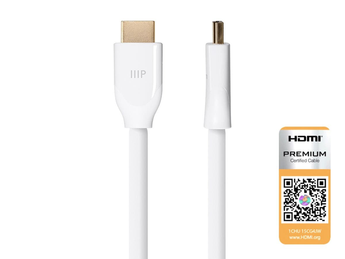 Certified Premium High Speed HDMI Cable  4K@60Hz  HDR  18Gbps  24-28AWG  YUV 4:4:4 by Monoprice