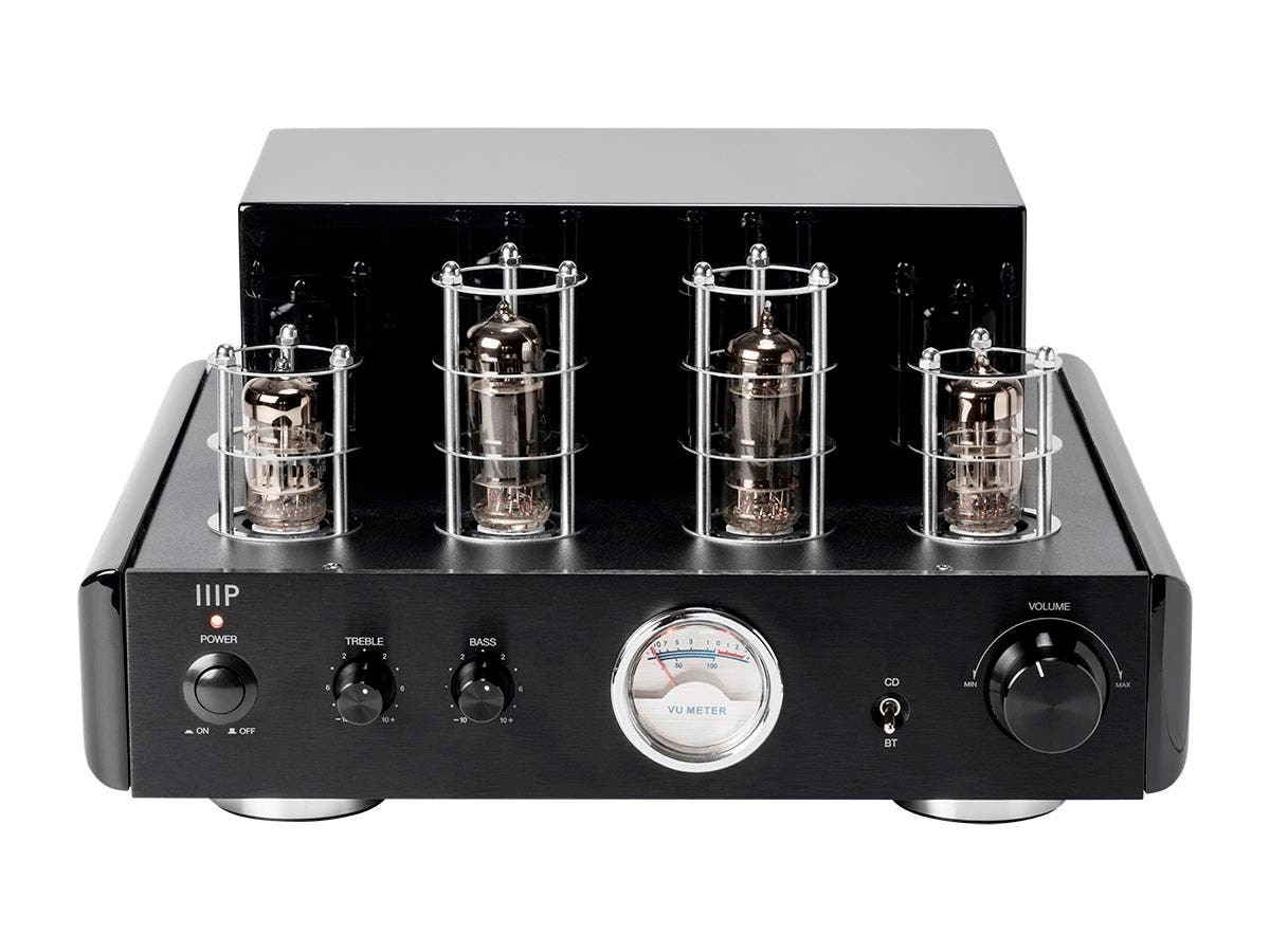 50 Watt Stereo Hybrid Tube Amplifier with Bluetooth & Line Output (EU) by Monoprice