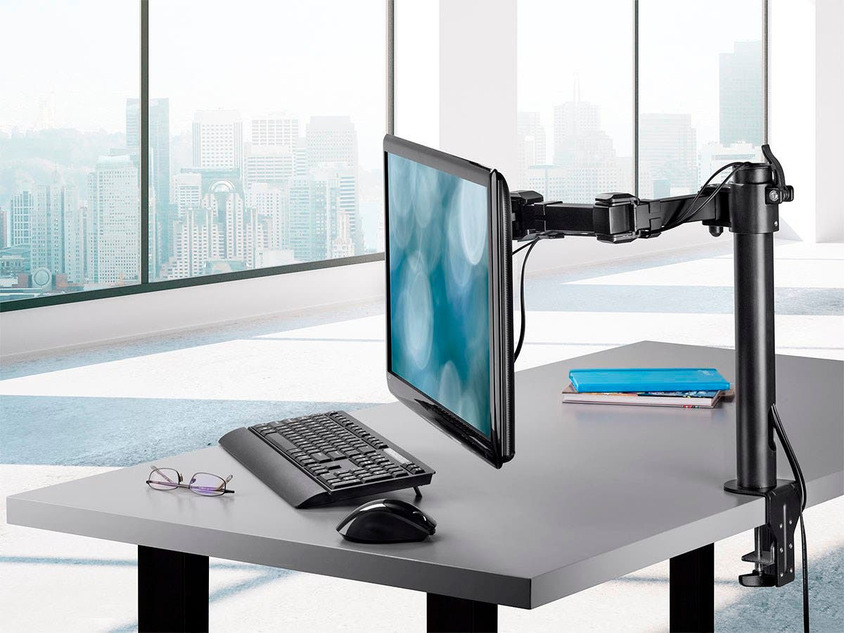 Essential Single Monitor Articulating Arm Desk Mount by Monoprice
