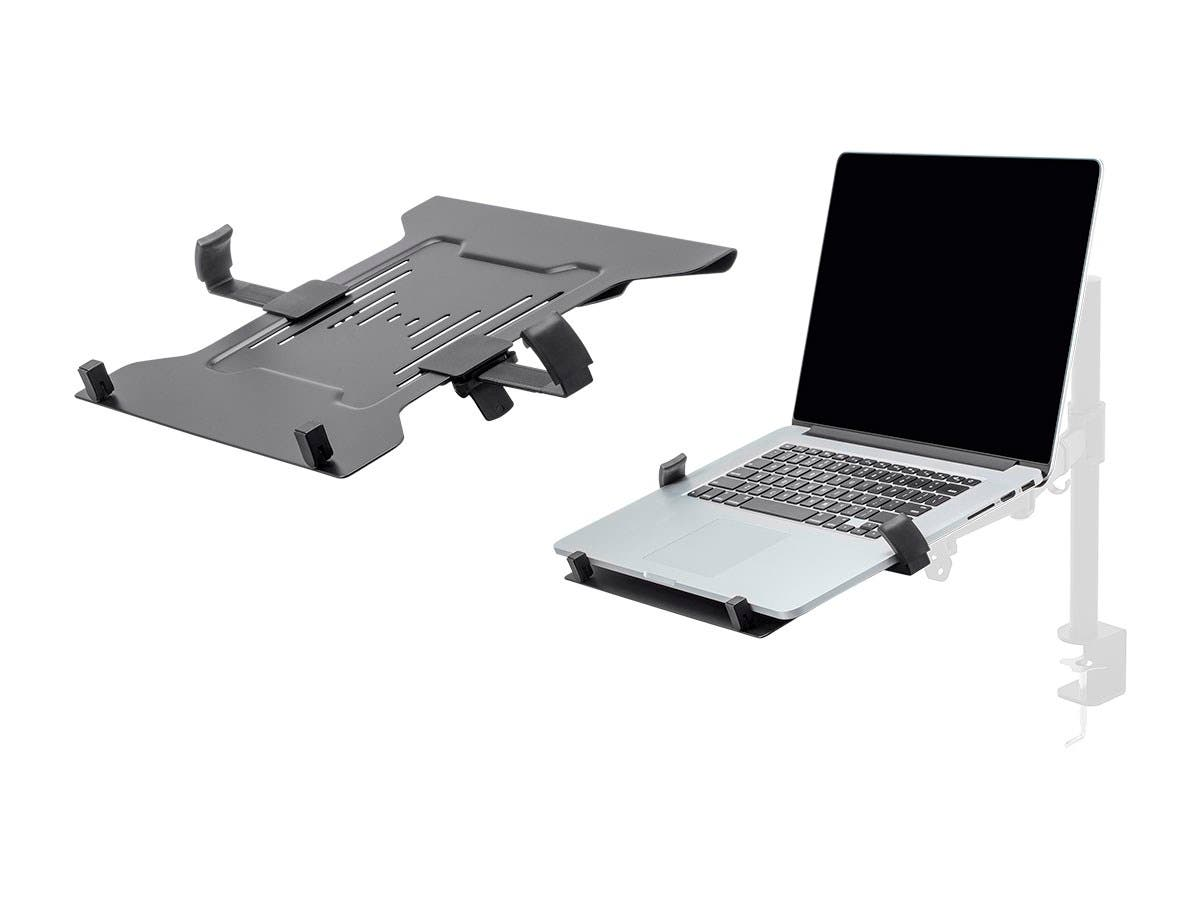 Laptop Holder Attachment for LCD Desk Mounts | Ideal For Work, Home, Office Laptops | Workstream Collection | Black