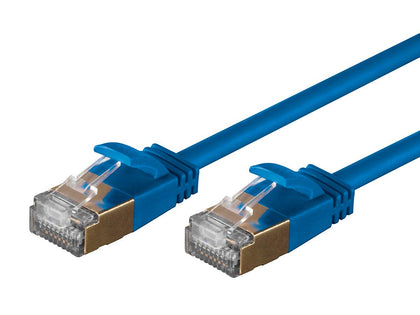 SlimRun Cat6A Ethernet Patch Cable (5 pack) - Snagless RJ45, Stranded, S/STP, Pure Bare Copper Wire