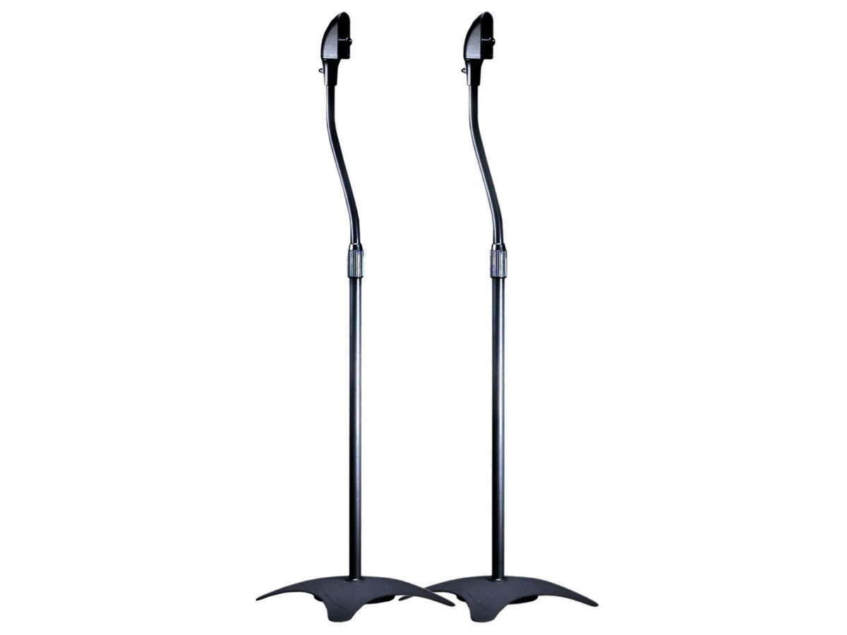 Adjustable Height 5 lb. Capacity Speaker Stands (Pair) by Monoprice