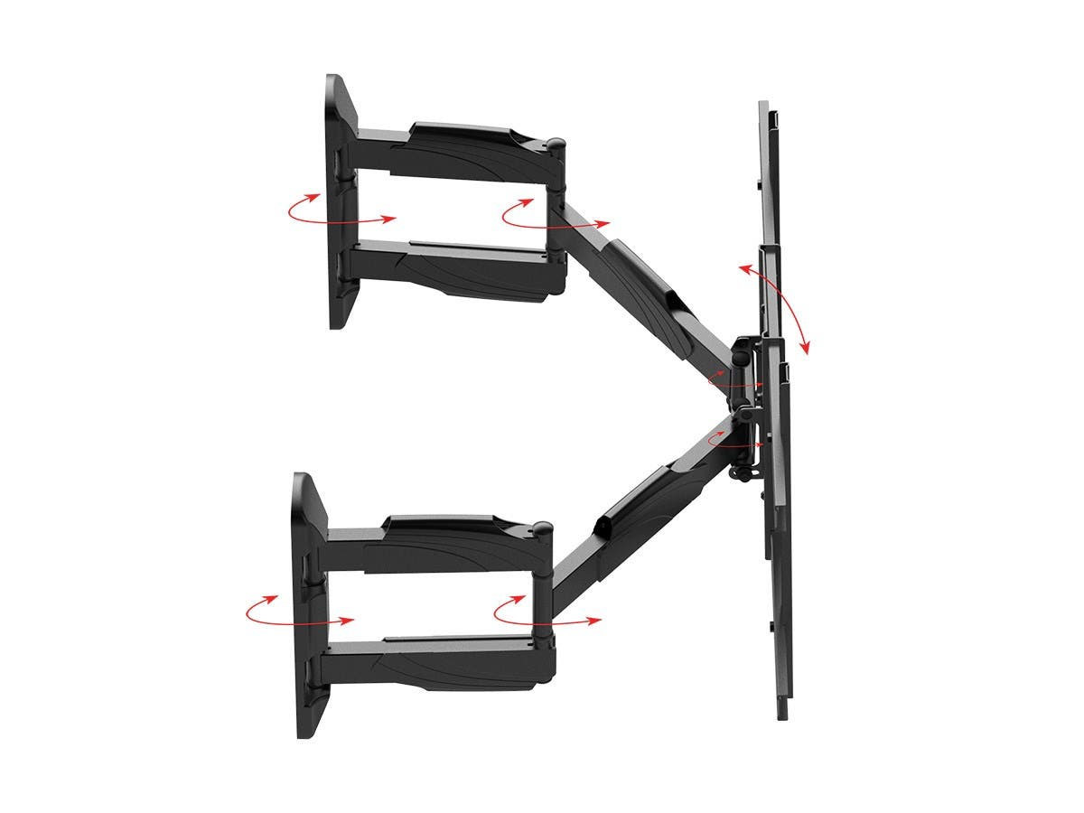 Full-Motion Articulating TV Wall Mount Bracket For TVs 37-70 Inch | Max Weight 45 kg (99 lbs) | Max VESA 600x400 | Rotating