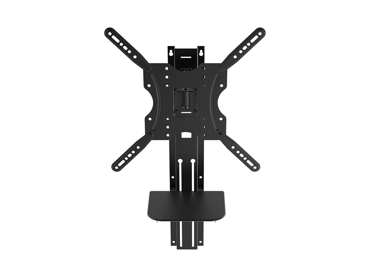 Full Motion Wall Mount Bracket with height adjustment Support Shelf for Medium 81cm~139cm TVs up to 66 lbs by Monoprice