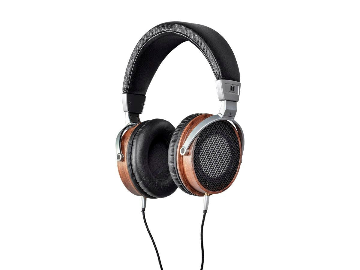 Monolith M600 Over Ear Headphones - Black/Wood With 50 mm Driver, Open Back Design, Light Weight, And Comfort Ear Pads by Monoprice