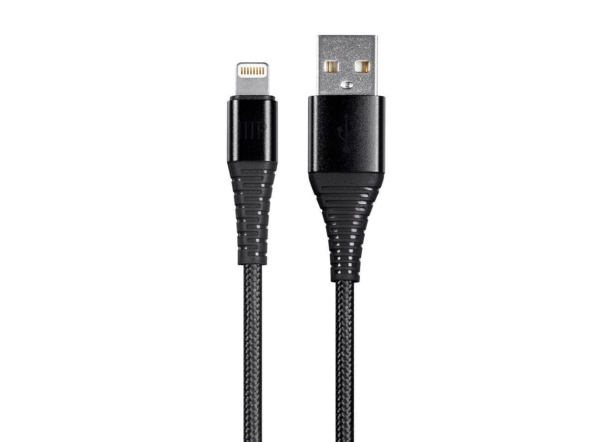 AtlasFlex Series Durable Apple MFi Certified Lightning to USB Type-A Charge & Sync Kevlar-Reinforced Nylon-Braid Cable by Monoprice