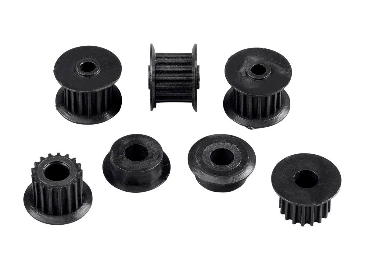 Replacement Set of 3 Belt Gears and 2 Motor Belt Pulleys for the Select Mini 3D Printer (15365, 21711 and 33012)