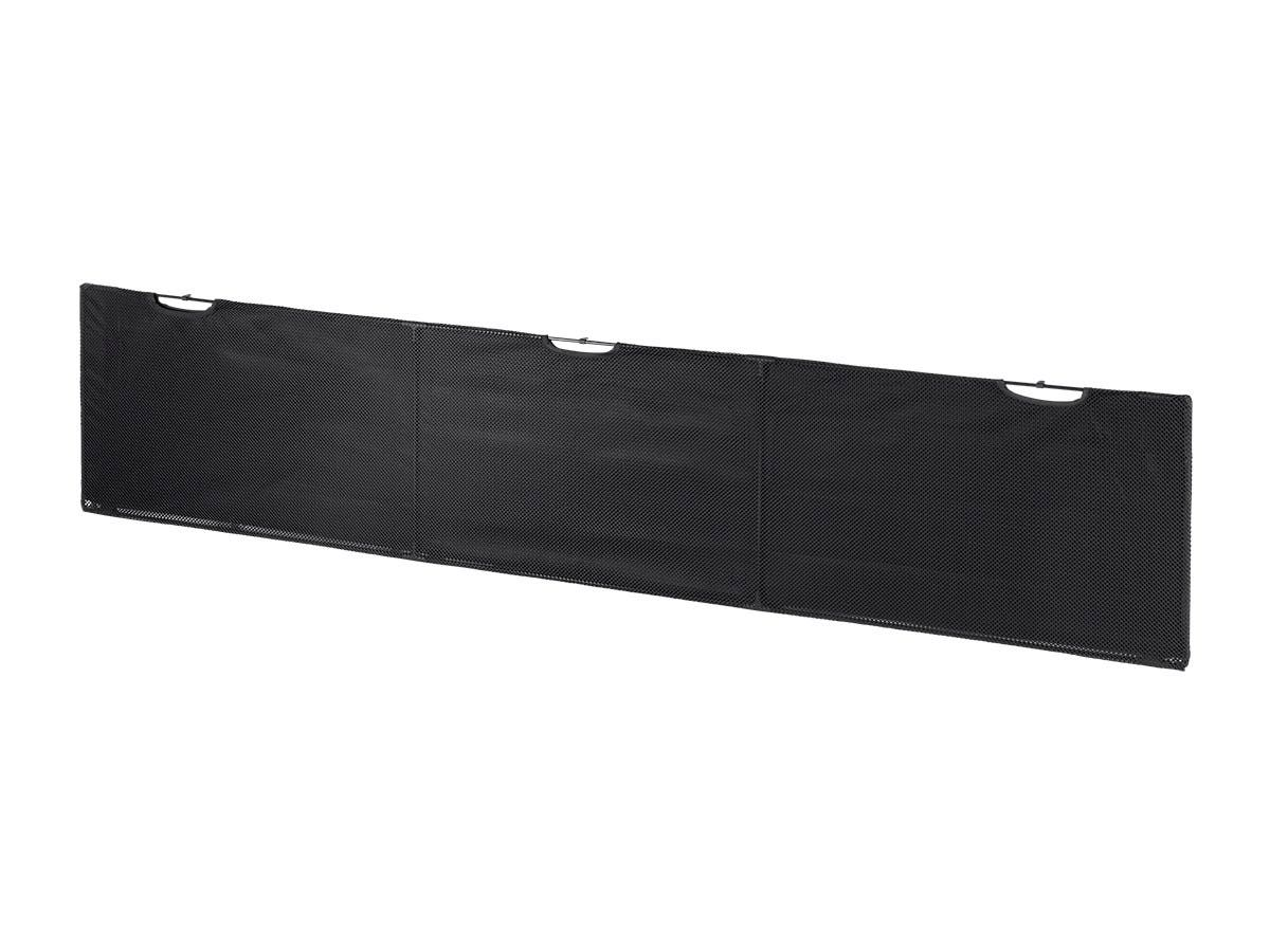 Desk Cover Modesty Panel - 1.8 Meters (6ft) - Black With Wire Management  - Workstream Collection by Monoprice