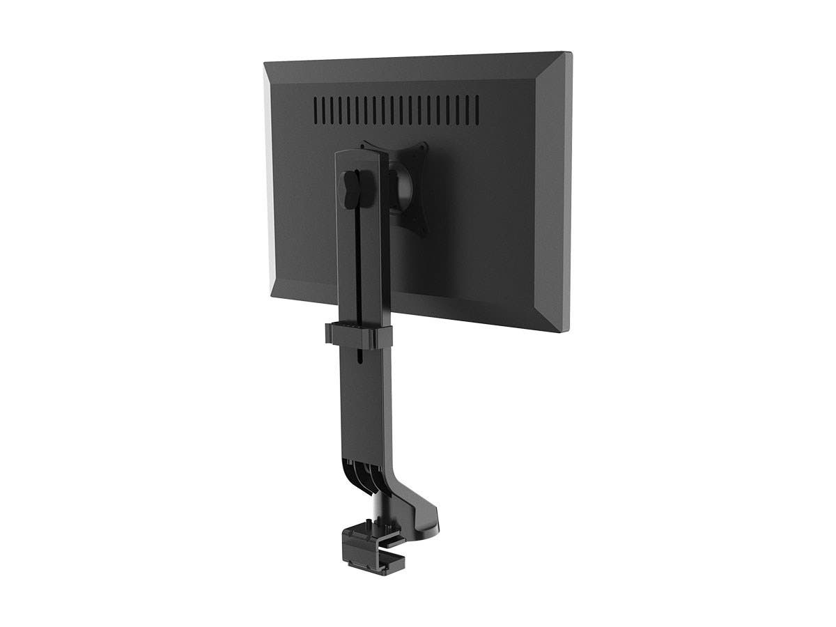 Workstream Single Monitor Low Profile Flat-Clamp Mount for Screens Up to 32&#34 by Monoprice