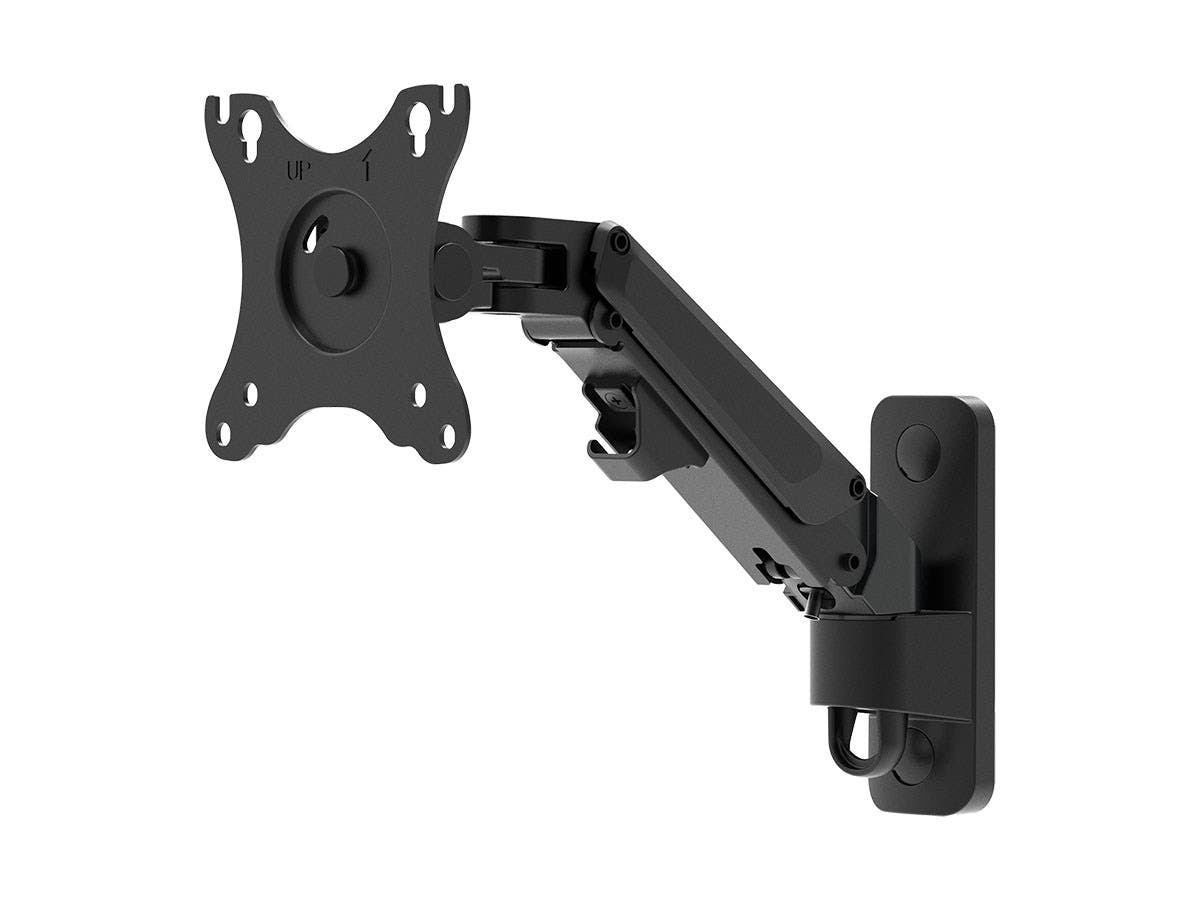 1-Segment Wall Mount For Monitors Up To 68cm | Adjustable Gas Spring - Workstream Collection by Monoprice