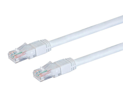 Monoprice Cat6 Ethernet Patch Cable - 0.91 Meters (3Ft) - White | Snagless RJ45, Stranded, 550MHz, UTP, Pure Bare Copper Wire, 24AWG, Outdoor Rated Main Image